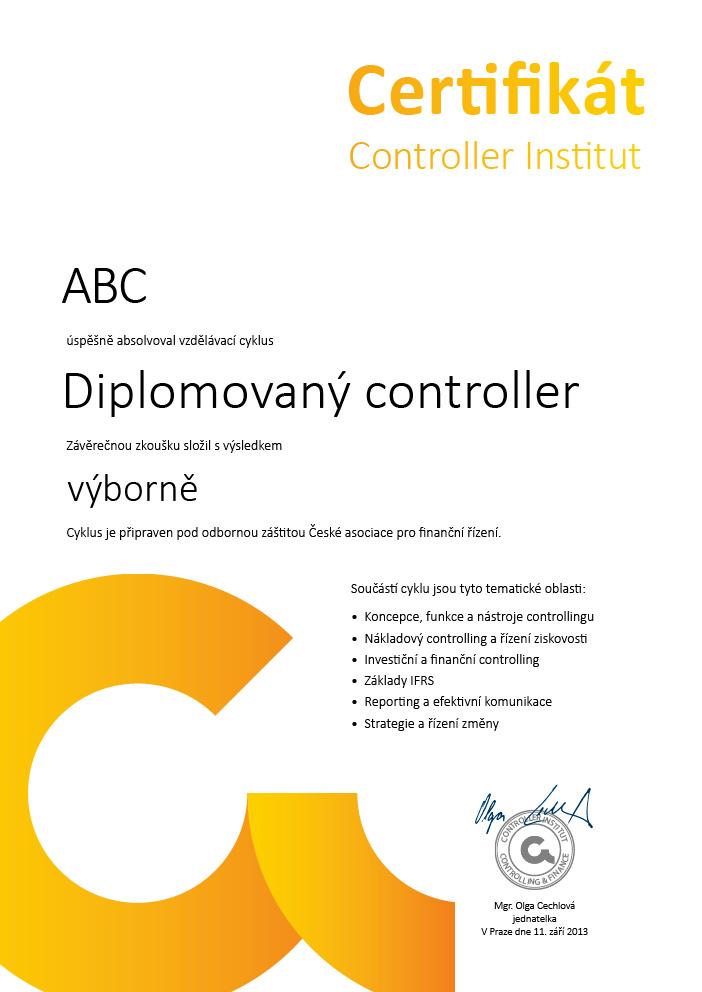 Certifikát CI